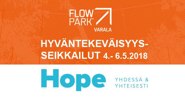 Esite, hyväntekeväisyysseikkailut Flowparkissa 4.-6.5.2018