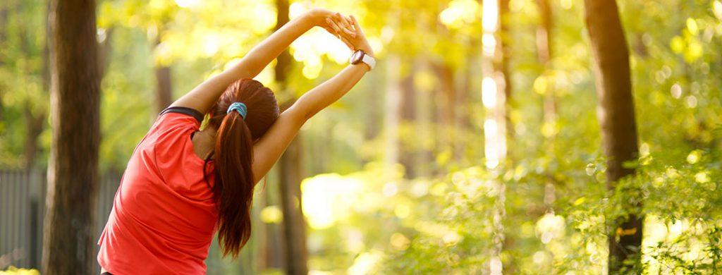 Women morning fitness workout