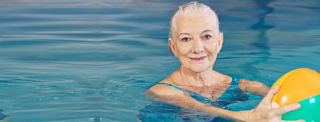 Old Women Learn Swimming